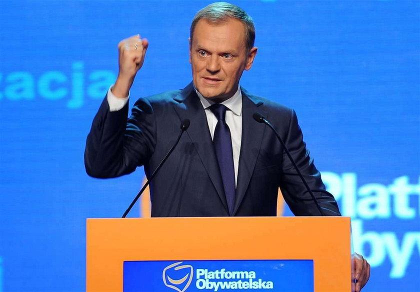 Platforma traci, PiS dogania, a Palikot...