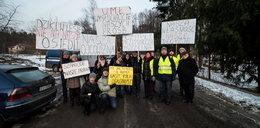 Mieszkańcy osiedla Łagiewniki protestują