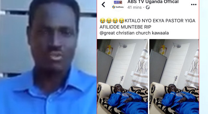 A controversial Ugandan pastor who was announced dead by own TV station 'resurrects' and plans to sell miraculous rings