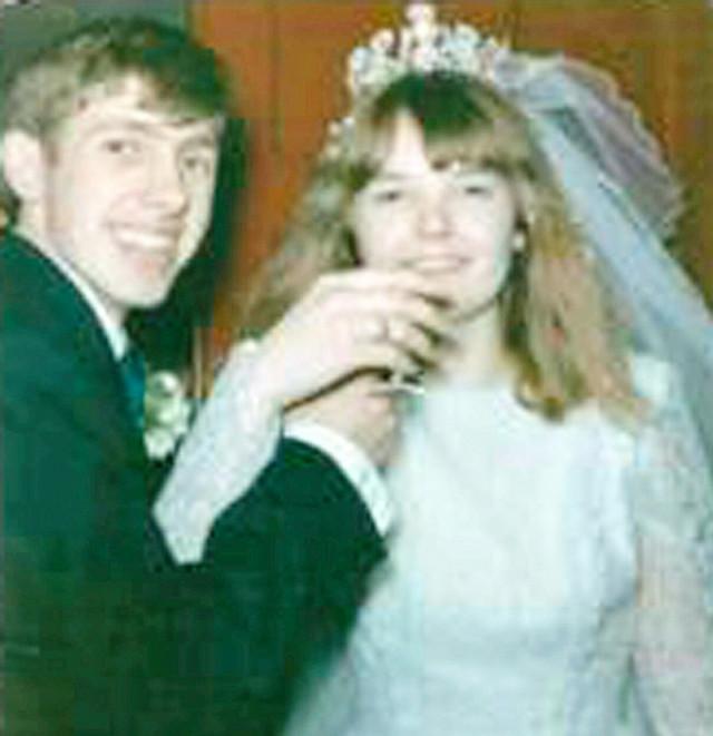 Na venčanju sa prvom suprugom Margaret 1966.