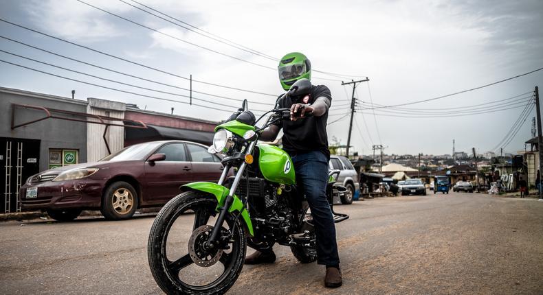 ORide rider in Lagos