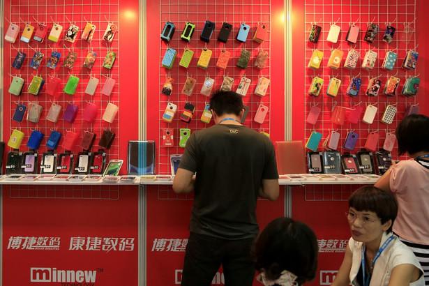 Sklep z telefonami komórkowymi w Chinach.