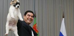 Prezydent Turkmenistanu odsłonił pomnik psa. Gigantyczna figura stanęła w stolicy