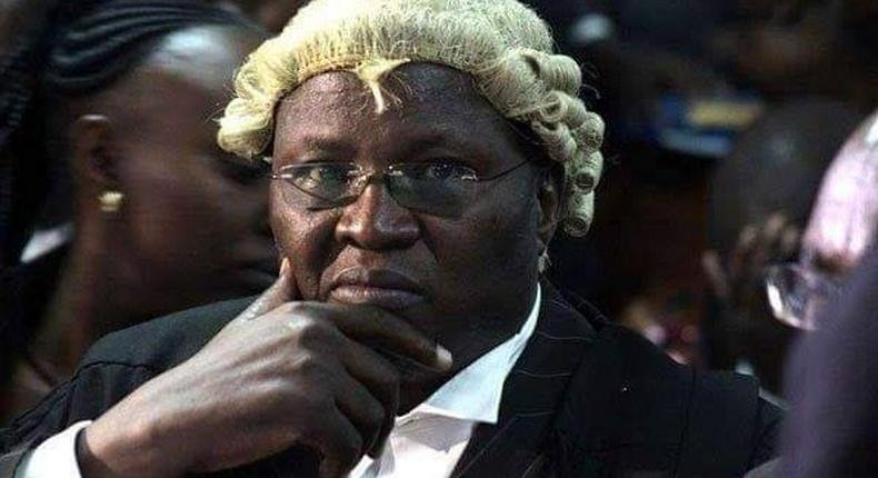 Lawyer Assa Nyakundi during a past court session