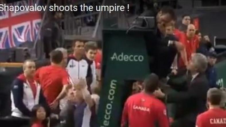 Sędzia trafiony piłką