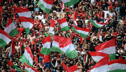 There have been large crowds for Hungary's matches in Budapest Creator: FRANCK FIFE