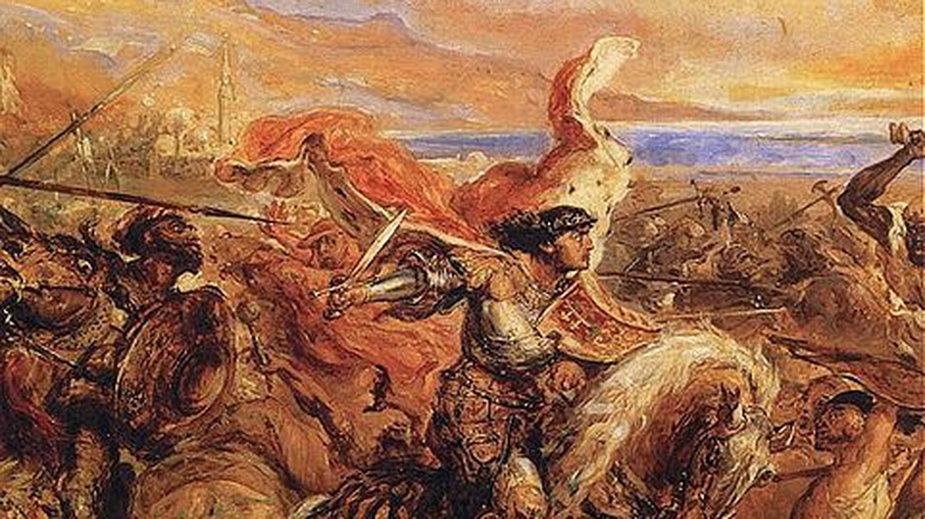 Bitwa pod Warną (fragment - Władysław) - obraz Jana Matejki - domena publiczna