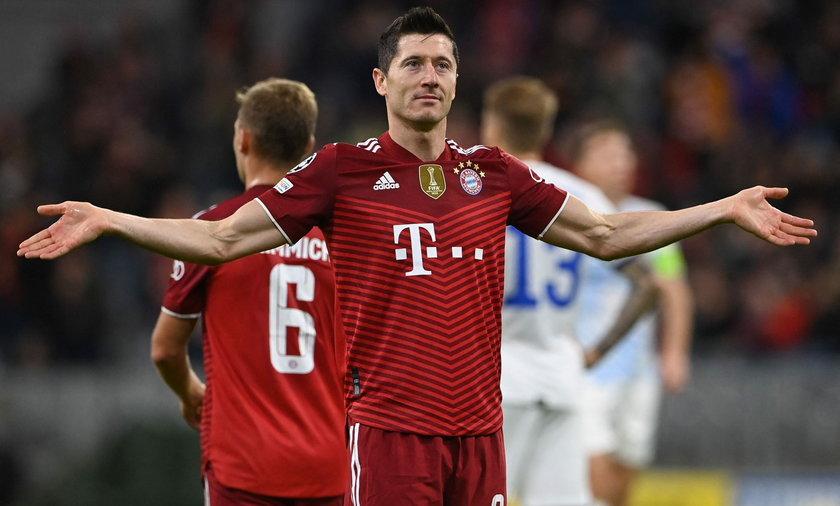 Robert Lewandowski w barwach Bayernu Monachium.