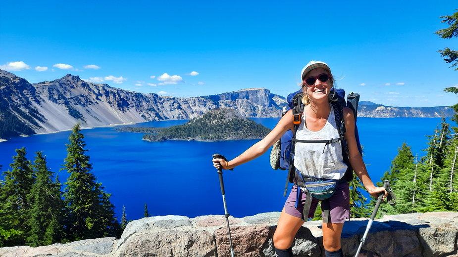 Aleksandra Zejdler na szlaku Pacific Crest Trail