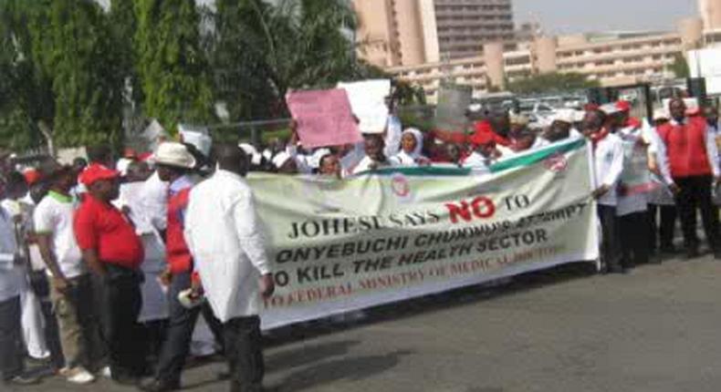 JOHESU suspends threat to shutdown healthcare services in Nigeria.