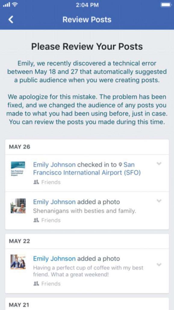 Fejsbuk je ovog puta narušio privatnost 14 miliona korisnika
