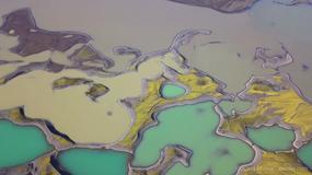 Na nagraniu z lotu ptaka udało się uchwycić tajemnicze jeziora