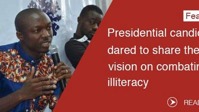 Presidential candidates dared to share their vision on combating illiteracy