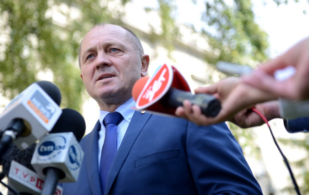 Marek Sawicki podczas konferencji prasowej w Warszawie. Fot. PAP/Jacek Turczyk