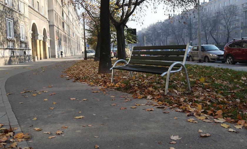 Samotna ławeczka