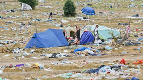 Góra śmieci po Przystanku Woodstock