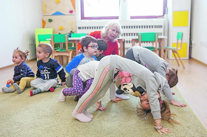 Vežbe su prilagođenje uzrastu i potrebama razvoja dece