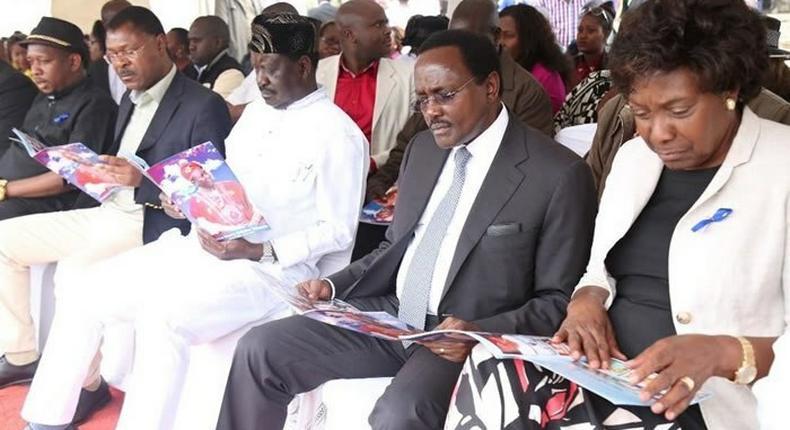 Charity Ngilu, Kalonzo Musyoka and Raila Odinga