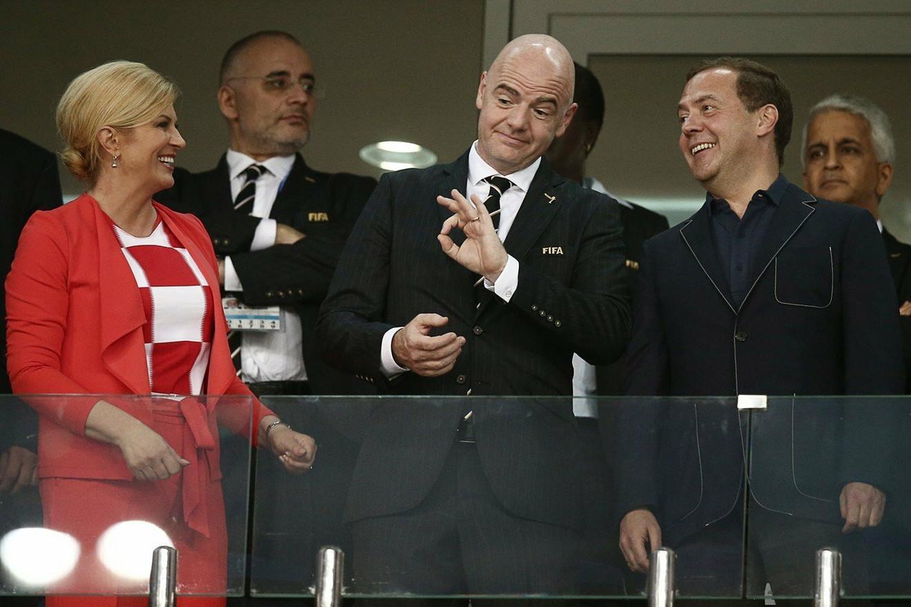 Sa Infatinijem i premijerom Rusije Dimitrijem Medvedevim