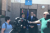 Ambasador Sem Fabrici i general policije Milenko Bozovic u Regionalnom centru granicne policije prema Bugarskoj