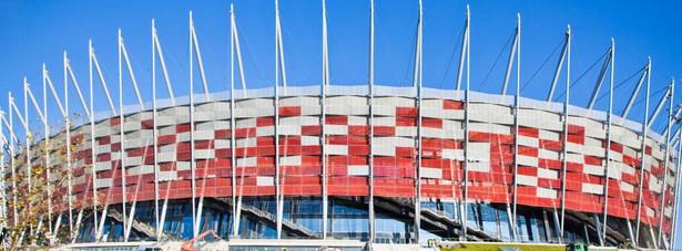Stadion Narodowy w Warszawie. Zdjęcie z dnia 16 listopada 2011 roku