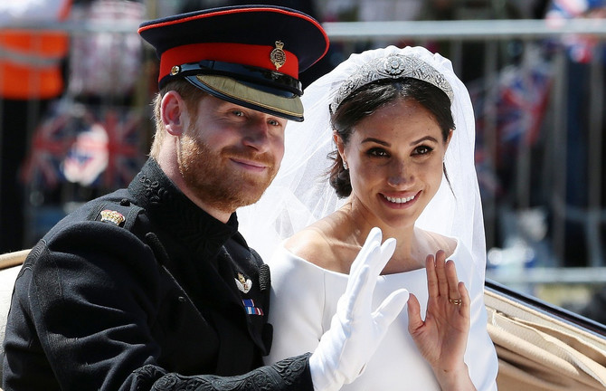 Hari i Megan na venčanju