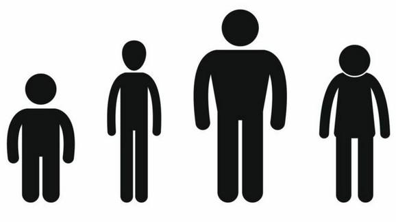 Visoki i niski ljudi
