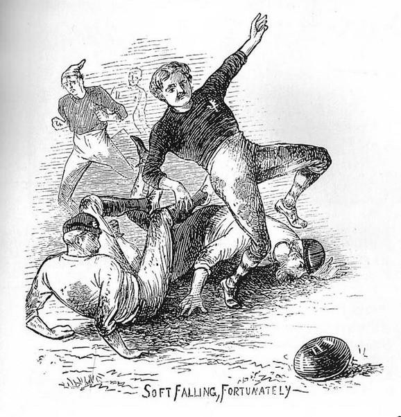 Ilustracija prvog međunarodnog duela Škotske i Engleske