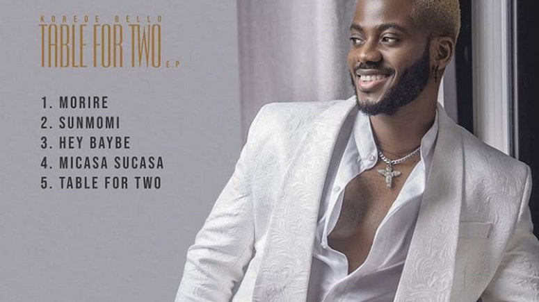 Korede Bello releases new EP, 'Table For Two.' (MAVIN)