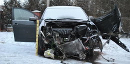 Pasażerki wypadły z auta. Kierowca był pijany