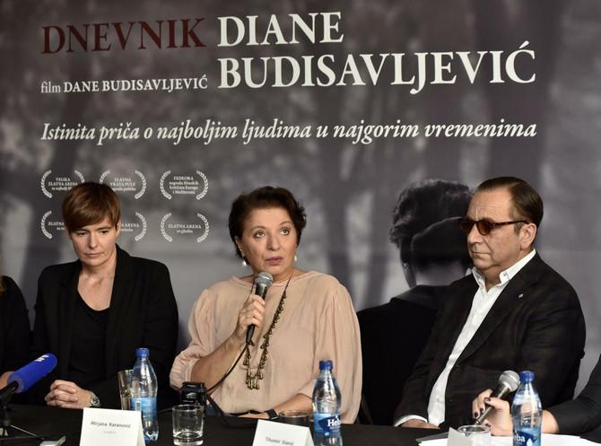 Rediteljka sa Mirjanom Karanoivć i Tihomirom Stanićem juče u Beogradu