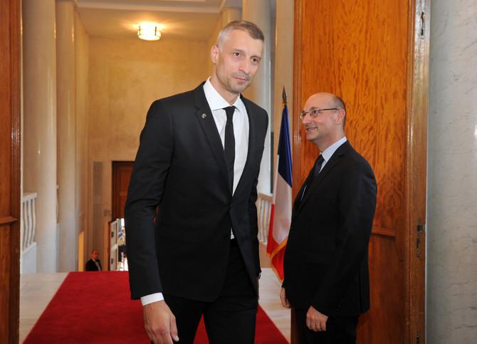 Miljković u Ambasadi Francuske u Beogradu