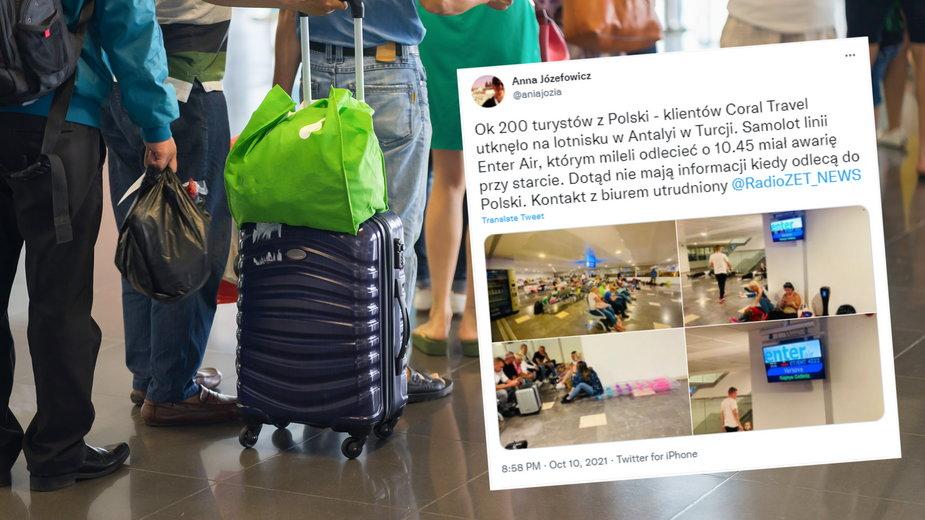 Polscy turyści utknęli na lotnisku w Antalyi