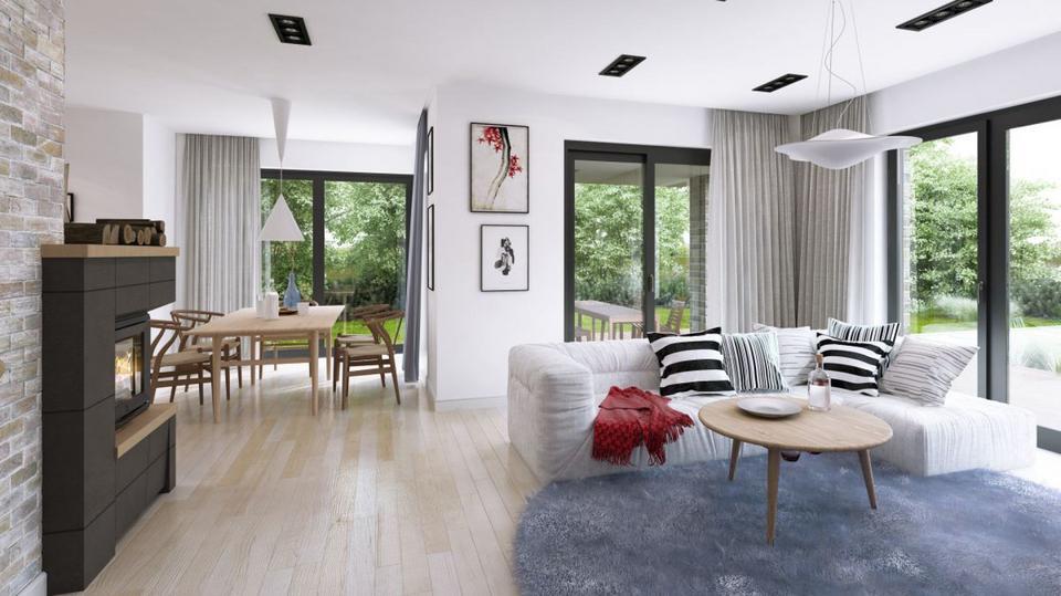 Piętrowy dom o charakterze miejskiej willi. Idealny dla rodziny. Zobaczcie projekt i wnętrze