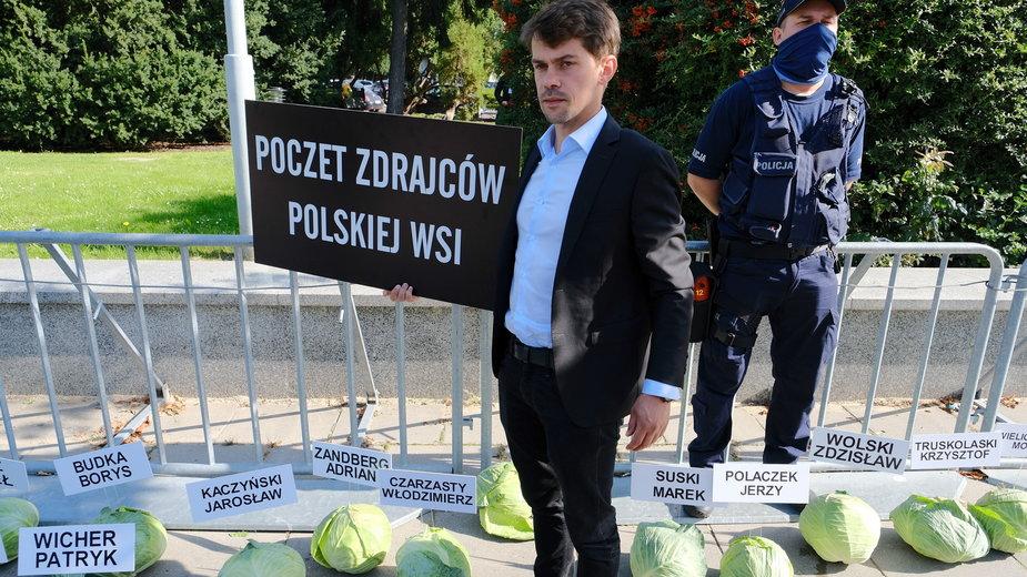 Michał Kołodzejczak, lider Agrounii przed Sejmem