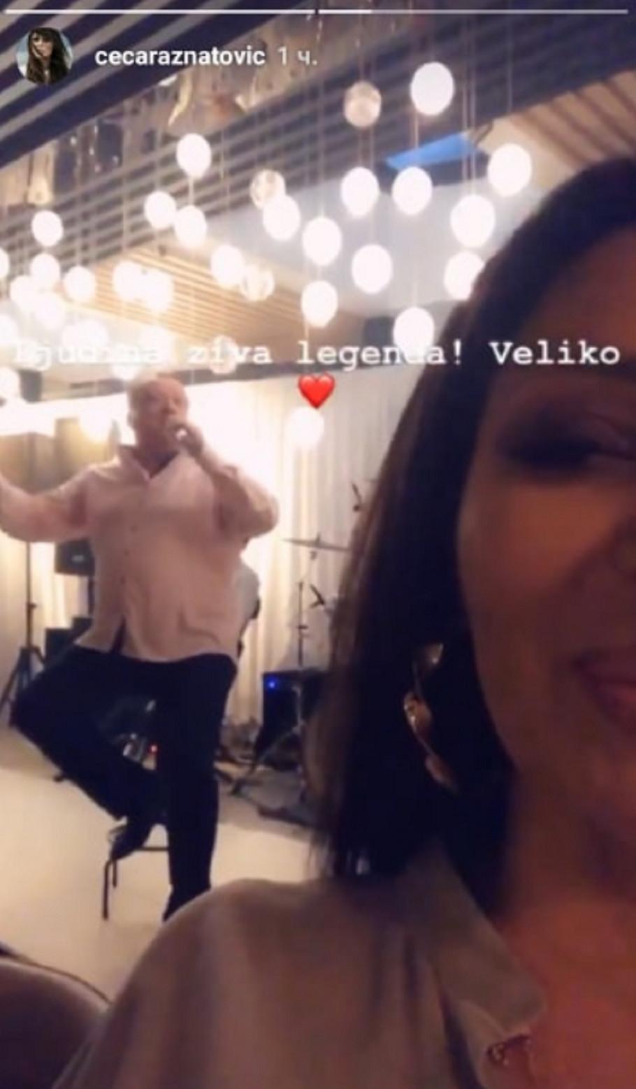 Ceca uživa u nastupu Halida Bešlića