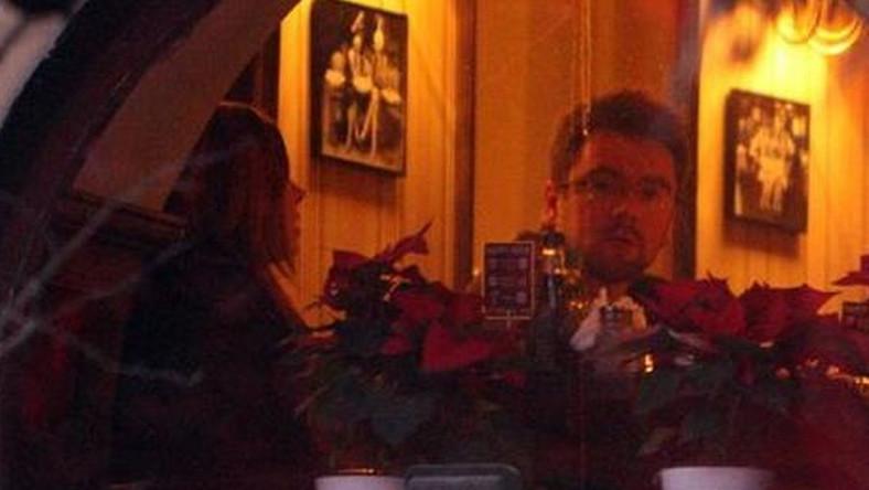Aleksandra Kwaśniewska i Kuba Badach na kolacji