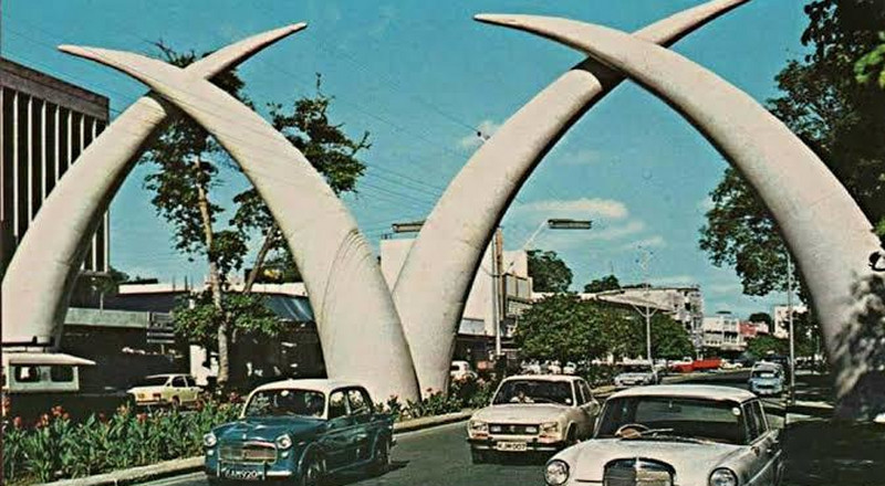 Built in 1952 to commemorate Queen Elizabeth, these iconic giant elephant tusks in Mombasa are still standing today; Here's how they took a life of their own and become a magnet