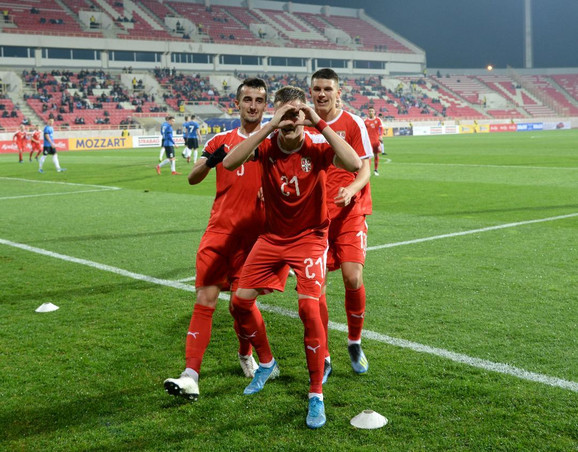 Slavlje fudbalera Srbije