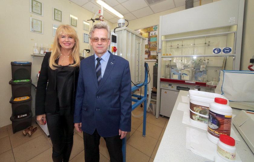 Dr Ewa Miękoś i prof. Marek Zieliński