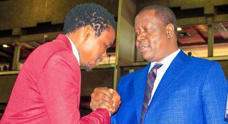 Nacada Director Chipukeezy  with Fred Matiang'i