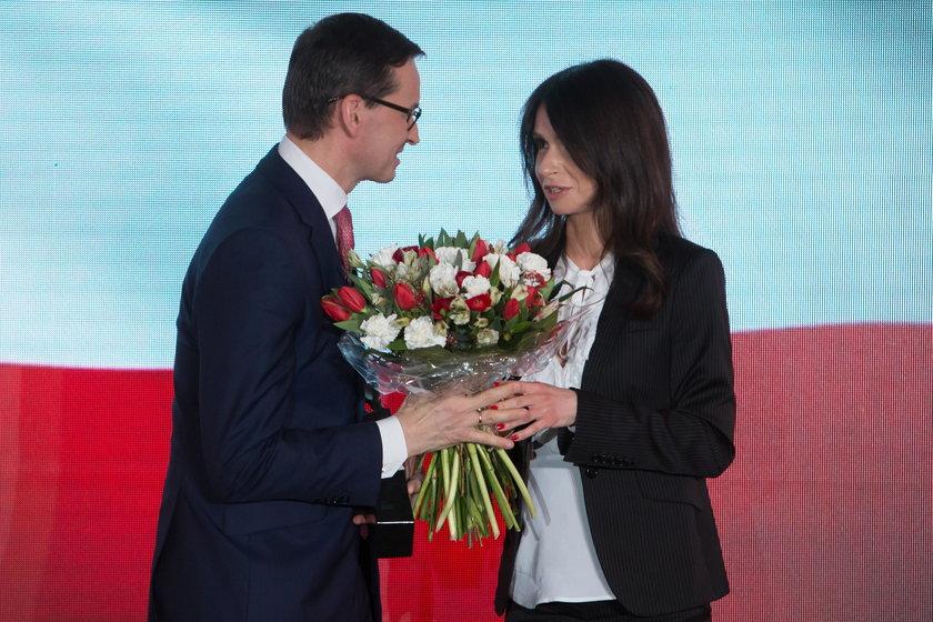 Marta Kaczyńska z wujkiem na uroczystej gali