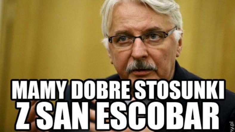 Witold Waszczykowski spotkał się z ministrem San Escobar? Zobacz najlepsze memy!