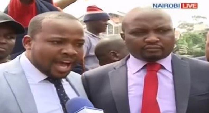 MPs Moses Kuria and Nixon Korir