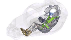 Wirtualny manekin Toyoty w samochodzie sportowym