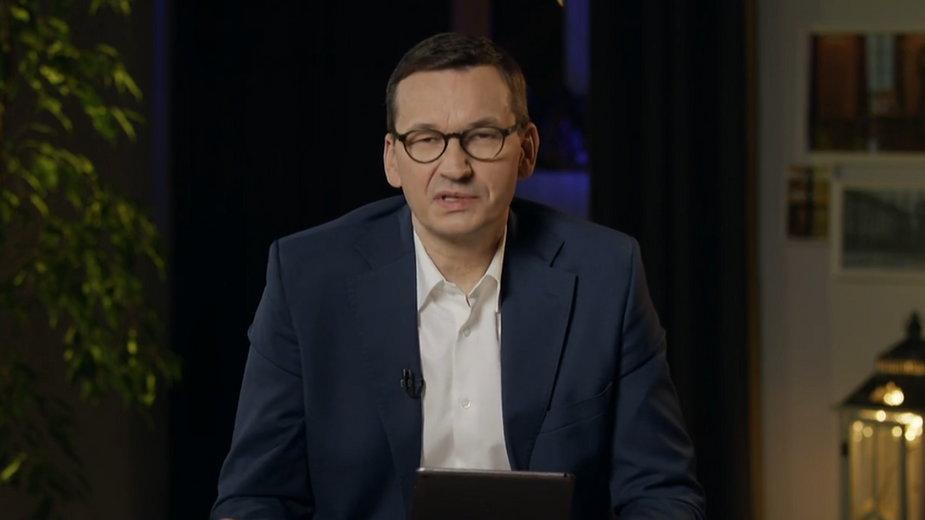 Premier Mateusz Morawiecki podczas sesji Q&A na Facebooku