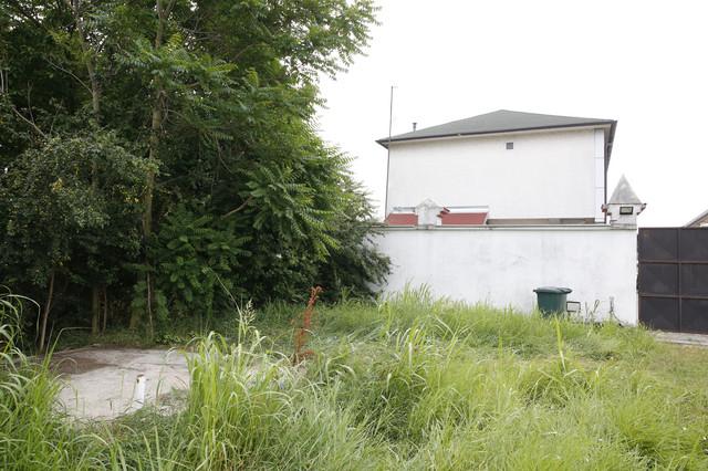 Zapušteni deo dvorišta u kom se nalazi septička jama u kojoj su pronađena tri tela