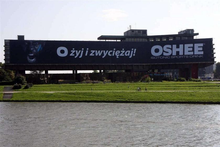 Kraków, piwo, Lech, napis, baner, reklama, Wawel