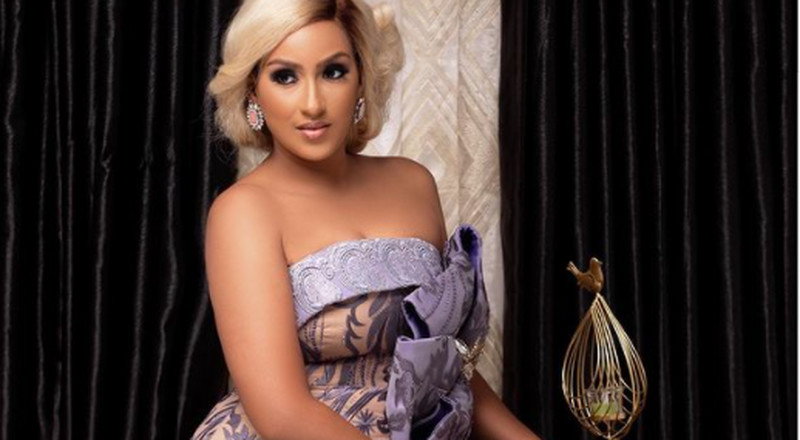 Woman crush: Glow as a wedding guest in pigeon blue dress just like Juliet Ibrahim
