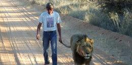 Niesamowita przyjaźń lwa z człowiekiem
